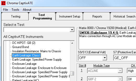 Electrical Safety Test Automation Software - CaptivATE